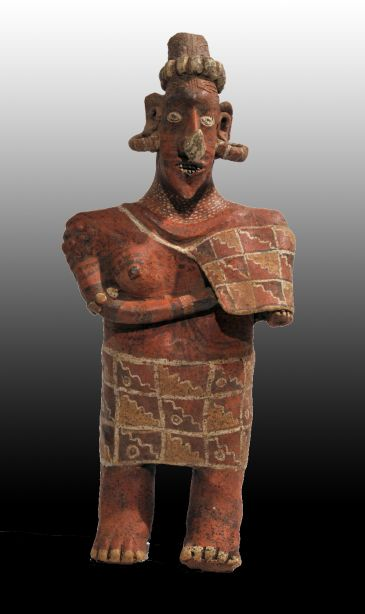 Large and Fine Ixtlan del Rio Standing Female Figure
