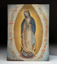 Virgen de Guadalupe Copper Painting