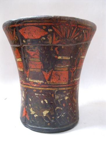 Colonial Resin  Pigment Qero - drinking cup