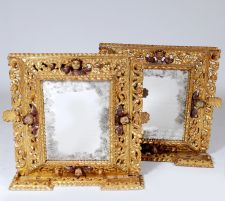 Colonial Hand Carved Gilt Wood Frames