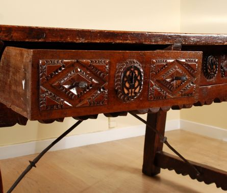17th Century Spanish Walnut  Center Table
